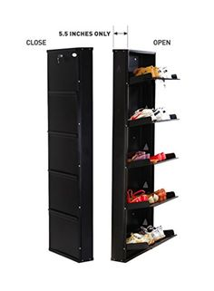 Shoe rack 5 shelf-hanging metal stand shoes organizer for home with foldable door-wall mounted space saving -modern furniture design with centralized lock -Accommodate family footwear in just 5.5 inches of space-Best life time guarantee Prab http://www.amazon.in/dp/B00YTXV1DY/ref=cm_sw_r_pi_dp_AT0Pvb0GRRK63