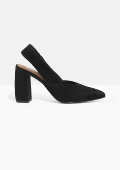 & Other Stories | Suede Slingback Pumps