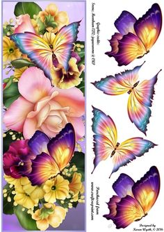 Beautiful Flutter Florals DL by Karen Wyeth A gorgeous quick card topper with…