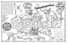 Florida State Symbols Coloring Pages   Florida Symbols & Facts FunSheet – Pack of 30