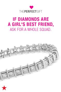 Looking for a Valentine's Day present? Search no further! Spread the love with something from Macy's. If she loves to show off with a little bling, this 2 ct. t.w. diamond tennis bracelet in 14k gold or white gold is the perfect gift. Head to macys.com now to shop Valentine's Day gifts!