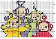 TELETUBBIES *LA LA, TINKY WINKY, DIPSY AND PO* PATTERN by MAURICETTE