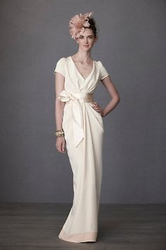 Crepe De Chine Column Gown , BHLDN $1,400.00 @Remi Lundeen-Stoneman This dress reminded me of you. Would look stunning on you!
