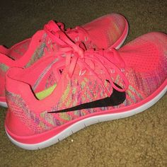 Nike free runs 4.0 Super cute and super comfy!! only worn twice, in great condition. nothing wrong with them, just don't fit anymore! Nike Shoes Athletic Shoes