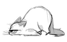 289: Rough Day! This week is off to a bumpy start :/ Is it the weekend yet? #CatDrawing