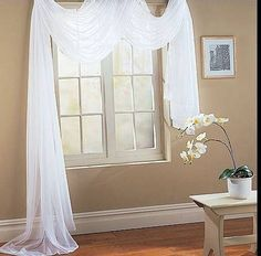 White Window Scarf