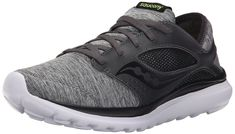 Saucony Men's Kineta Relay Running Shoe, Heather/Black, 12 M US