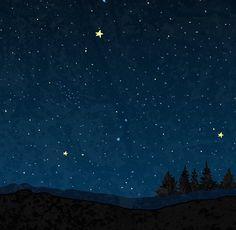 Night Sky Print Constellations Print Poster Moon Galaxy art Starry Sky Navy Blue Wall Art Stars Print Sky Indigo Blue Wall Art Landscape