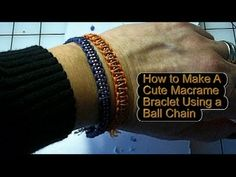 In this video I show you how to make an easy sparkly macrame bracelet using a ball chain.  This is an easy beginner project that is unique and amazing.
