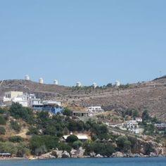 Leros Island Windmills, Paris Skyline, Greece, Island, Travel, Places, Greece Country, Viajes, Wind Mills