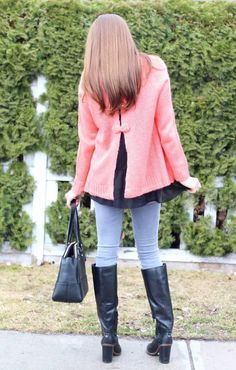 Styling the Cutest Coral Sweater with Bow Details from the March Magnolia Post Co Collection!