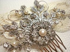 Possibly the prettiest jeweled pin/fascinator. $55