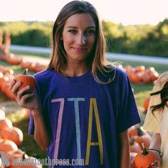 Arkansas Zeta Tau Alpha Colorful Bella Tee