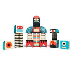 STACK AND SCARE BLOCK SET | wood blocks, monster | UncommonGoods