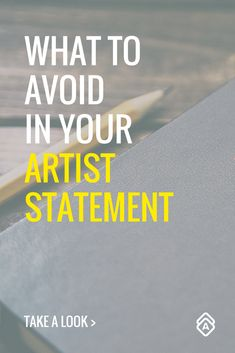 What to Avoid in Your Artist Statement. Don't make these common mistakes when writing your artist statement. Take a look. Art Display Panels, Art Classroom Management, What Is An Artist, Creative Business, Business Tips, Selling Art, Art Tips, Art Therapy, Art Market