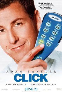 """Click"" (2006) with Adam Sandler, Kate Beckinsale, Cristopher Walken, Henry Winkler, David Hasselhoff and many other well-known secondary actors.  This one's a winner (Warning, it will make you cry!)   :)  (and laugh, and laugh, and laugh, repeat...)"