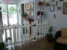 -Repinned- Cute lobby idea so pets wont run out the door.