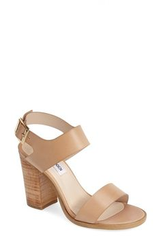 Free shipping and returns on Steve Madden 'Blaair' Leather Slingback Sandal (Women) at Nordstrom.com. A stacked woodgrain heel with a lightly distressed finish relaxes the vibe of a raw-cut leather slingback sandal.