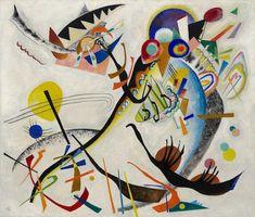 Segment bleu, par Wassily Kandinsky  Considéré comme l'un des artistes les plus importants du xxe siècle aux côtés notamment de Picasso et de Matisse, il est un des fondateurs de l'art abstrait : il est généralement considéré comme étant l'auteur de la première œuvre non figurative de l'histoire de l'art moderne, une aquarelle de 1910 qui sera dite « abstraite »