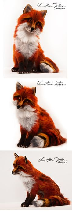 Red Fox: FireFox. Needle Felted Wool Animal by vorontsovafelt