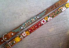 WonderCam Custom Hand Tooled Leather Dog Collar.