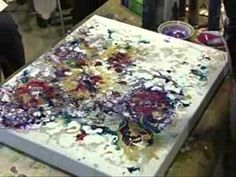 Mixed Media Technique Demonstration by De Gillet - YouTube