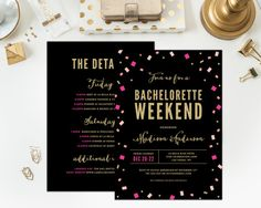 Bachelorette Weekend Invitation by fineanddandypaperie