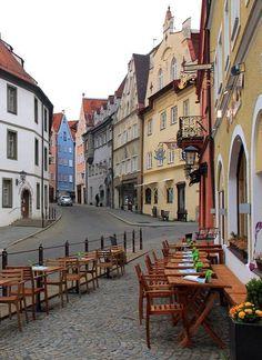 ..In the streets of Füssen, Bavaria, Germany