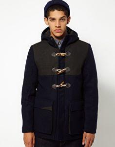 Boxfresh Melton Hooded Duffle Coat