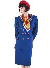 Britannia Airways.  I liked wearing this uniform, it had got to a point where no-one wore the awful pancake beret, so I was spared that awful fate.