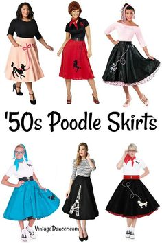 '50s poodle skirts and poodle skirt costumes at VintageDancer