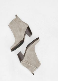 Acne Studios Pistol Suede Boot in Grey