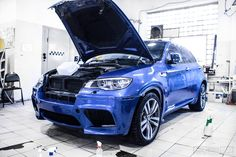 BMW X6M e71 Wrapping in Hexos Bodyfence protection film