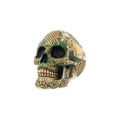 Celtic Triquetra Ancestor Skull (75 PLN) ❤ liked on Polyvore featuring home, home decor, filler, skulls, stuff, decor, things, skull home accessories and skull home decor