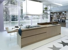 Q2 system offers an extensive selection of standard elements and finishes to fit a wide range of kitchen layouts