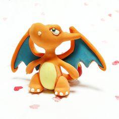 #charizard #charmander #charmeleon #dragon #firetype #pokemon #handmade #gottacatchemall #polymerclay #fimo