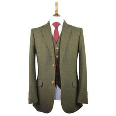 UK's largest collection of tweed suits. Our tweed suits are well tailored using the Traditional British Tweed fabric into a classy modern style. 3 Piece Tweed Suit, Mens Tweed Suit, Tweed Suits, Mens Suits, Tweed Wedding Suits, Tweed Outfit, Tweed Run, Green Suit, Tweed Fabric