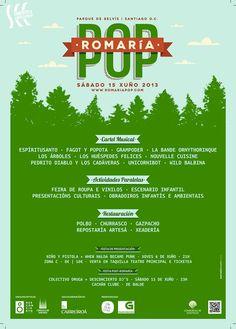 Festival Romaría Pop- Junio 2012 y 2013- Parque de Belvís (Santiago de Compostela)