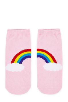 Rainbow Graphic Ankle Socks