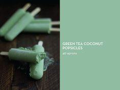 SUMMER STAPLE: POPSICLES – Green Tea Coconut Popsicles