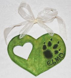 Dog Frame Paw Impression 2  Make a heart shape with heart and dog paw