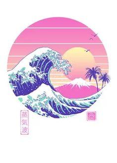 Japanese Retro poster prints by vp trinidad | Displate Vaporwave Wallpaper, Canvas Wall Art, Wall Art Prints, Poster Prints, Canvas Prints, Graphic Posters, Art Posters, Square Art, Square Canvas