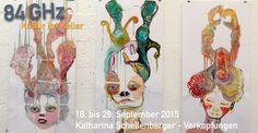 18. bis 28. September 2015 Katharina Schellenberger  - Verkopfungen  Die Ausstellung ist am 19. und 20. September von 15 bis 18 Uhr und wochentags von 14 bis 18 Uhr bis zum 28. September bei 84 GHz Kultur im Keller in der Georgenstraße 84, 80799 München geöffnet.