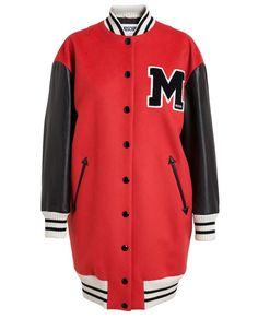 MOSCHINO | Oversized Wool Cashmere Varsity Jacket