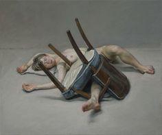 Craig Wylie, VK(broken chair), 2013-2014, Oil on linen, 50.5 x 60.5cm, Courtesy Galerie Dukan   Galerie Dukan