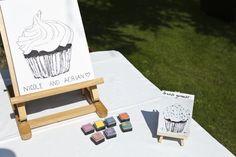 fingerprint cupcake @ my wedding