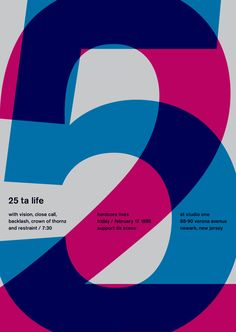 Each poster reflects the traditional international typographic style posters, each sized to the standard swiss kiosk dimensions of 35.5″ by 50″. The typeface used of course is Berthold Akzidenz Grotesk Medium.