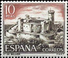 Stamp: Bellver Castle (Spain) (Castles) Mi:ES 1870,Sn:ES 1615,Yt ...
