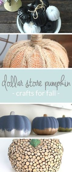 Dollar Store Pumpkin Crafts for Fall | Tons of cute and festive fall decorating ideas that are inexpensive.