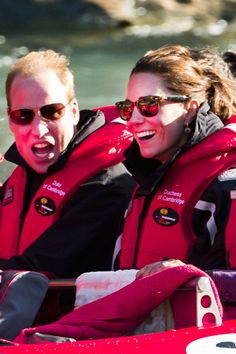 Prince William and Kate Middleton in Ray Ban